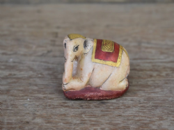 antique marble elephant hindu temple offering
